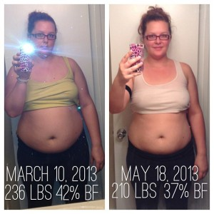 26 lbs in 2 months!!